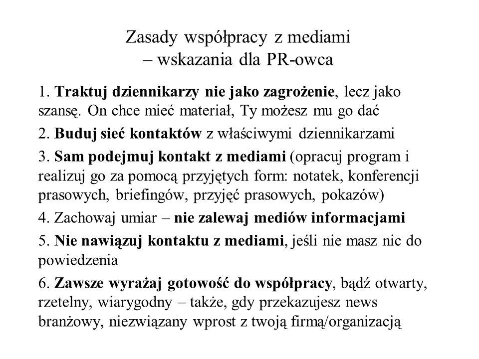 Zasady współpracy z mediami – wskazania dla PR-owca