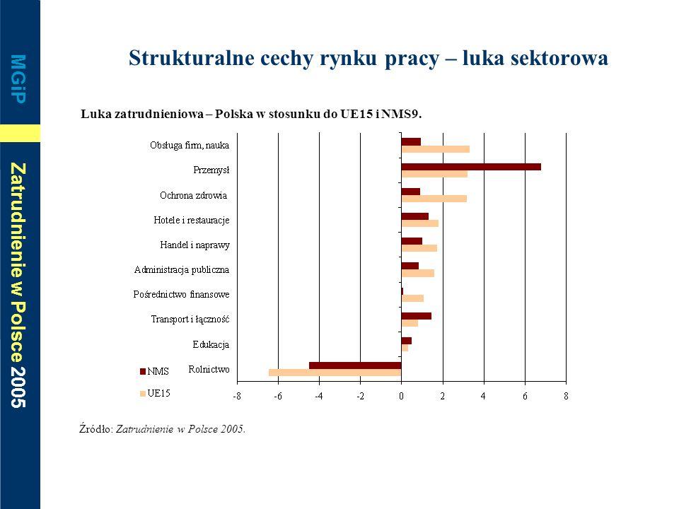 Strukturalne cechy rynku pracy – luka sektorowa