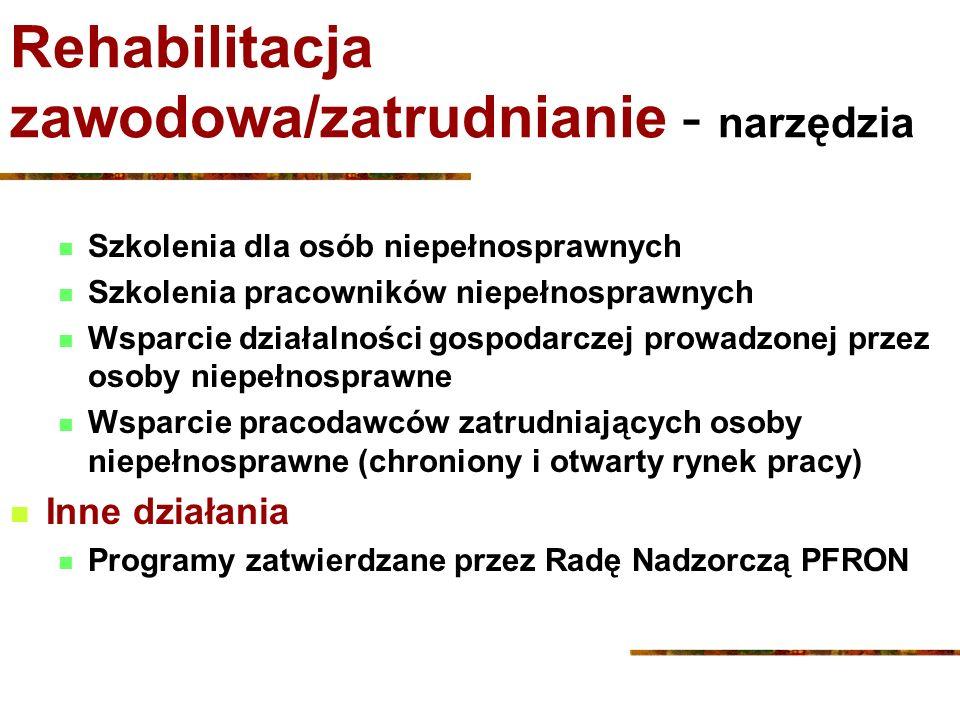 Rehabilitacja zawodowa/zatrudnianie - narzędzia