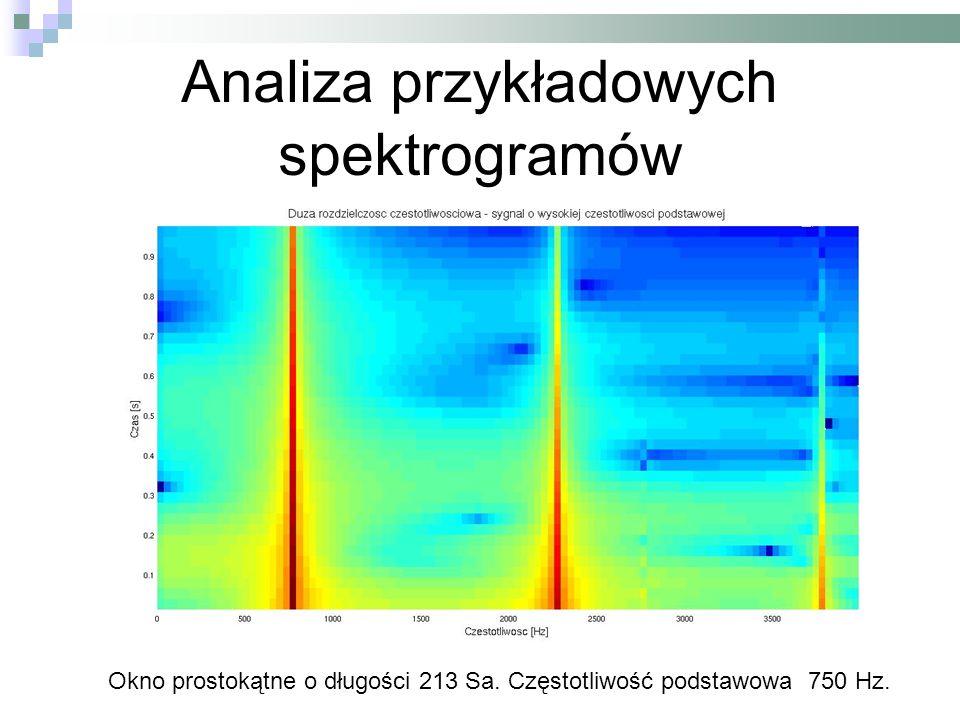 Analiza przykładowych spektrogramów