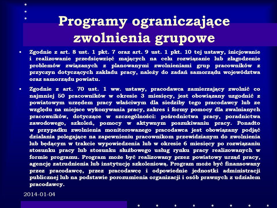 Programy ograniczające zwolnienia grupowe