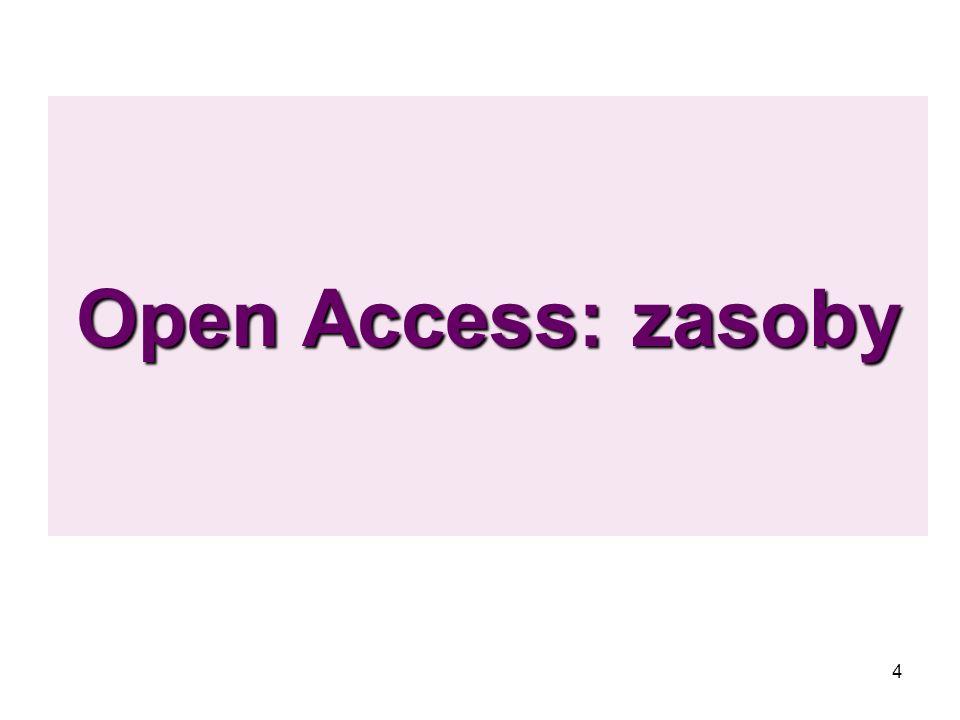 Open Access: zasoby