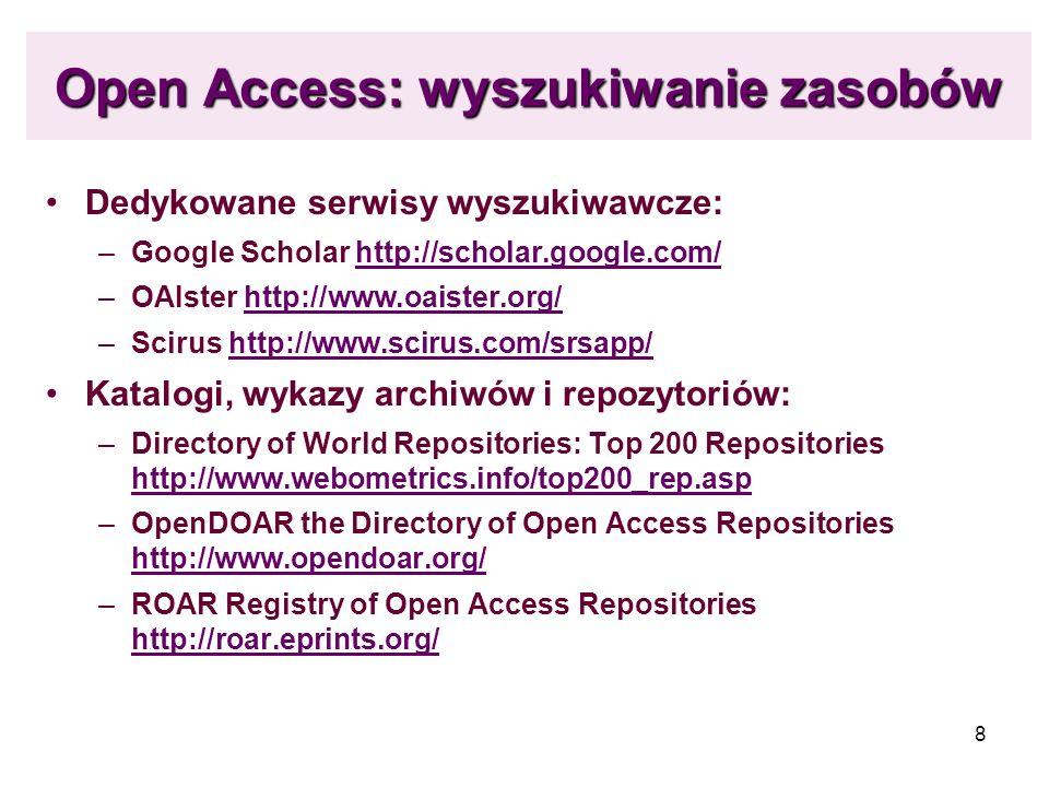 Open Access: wyszukiwanie zasobów
