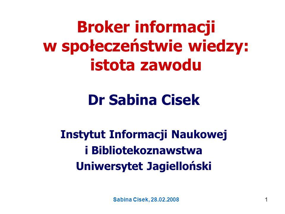 Broker informacji w społeczeństwie wiedzy: istota zawodu