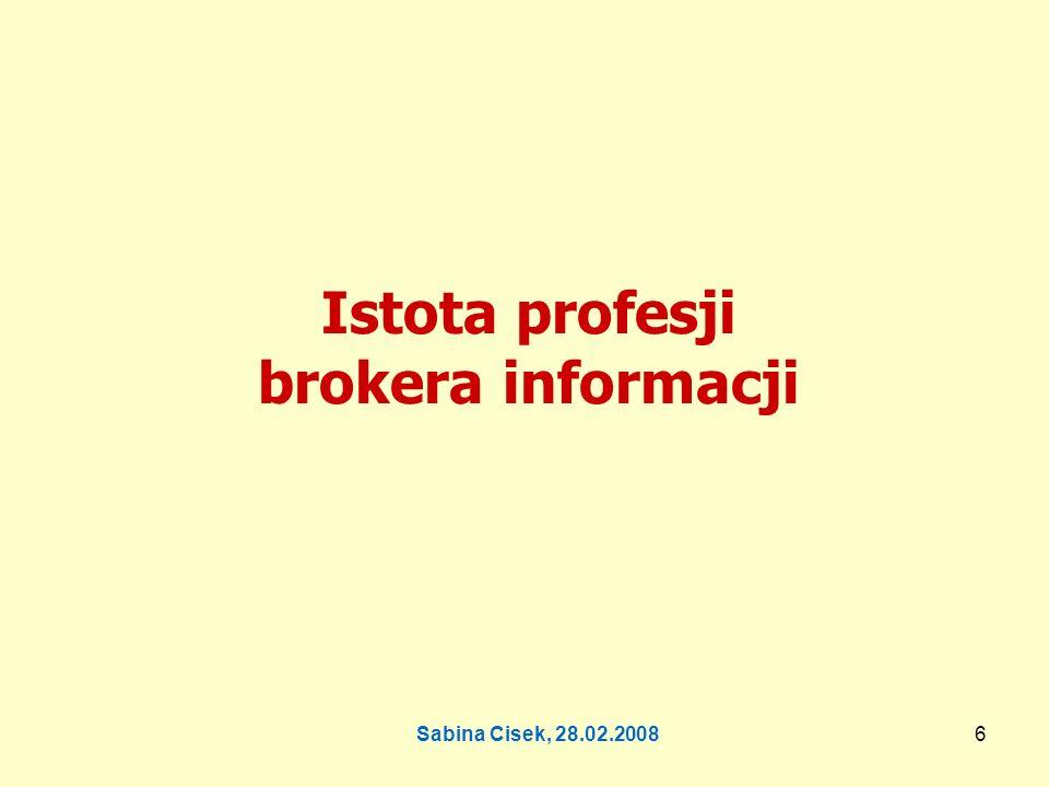 Istota profesji brokera informacji