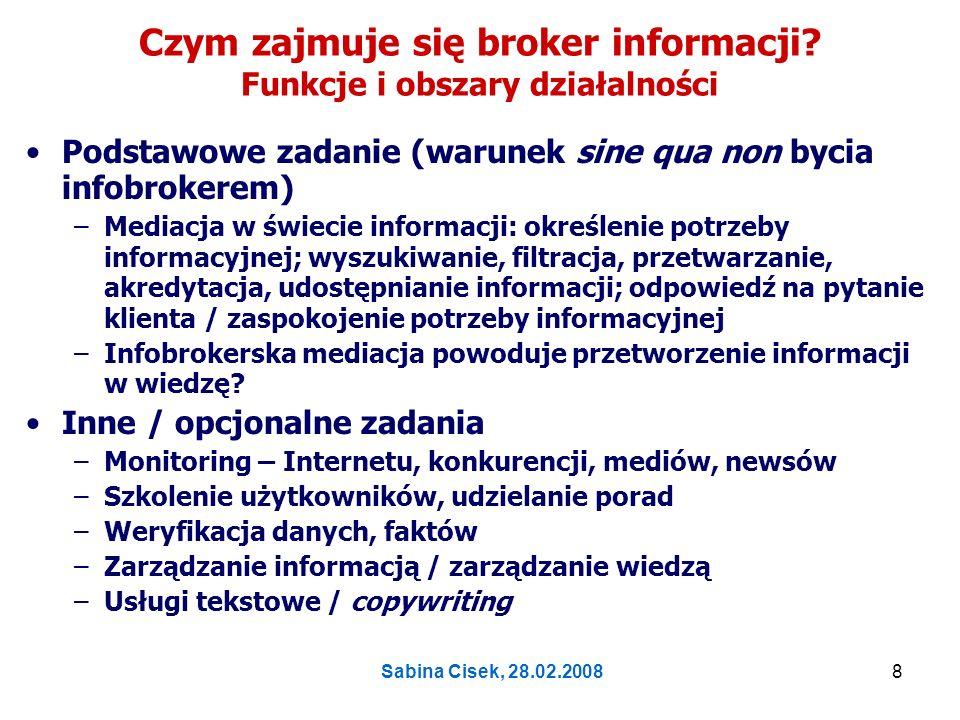 Czym zajmuje się broker informacji Funkcje i obszary działalności