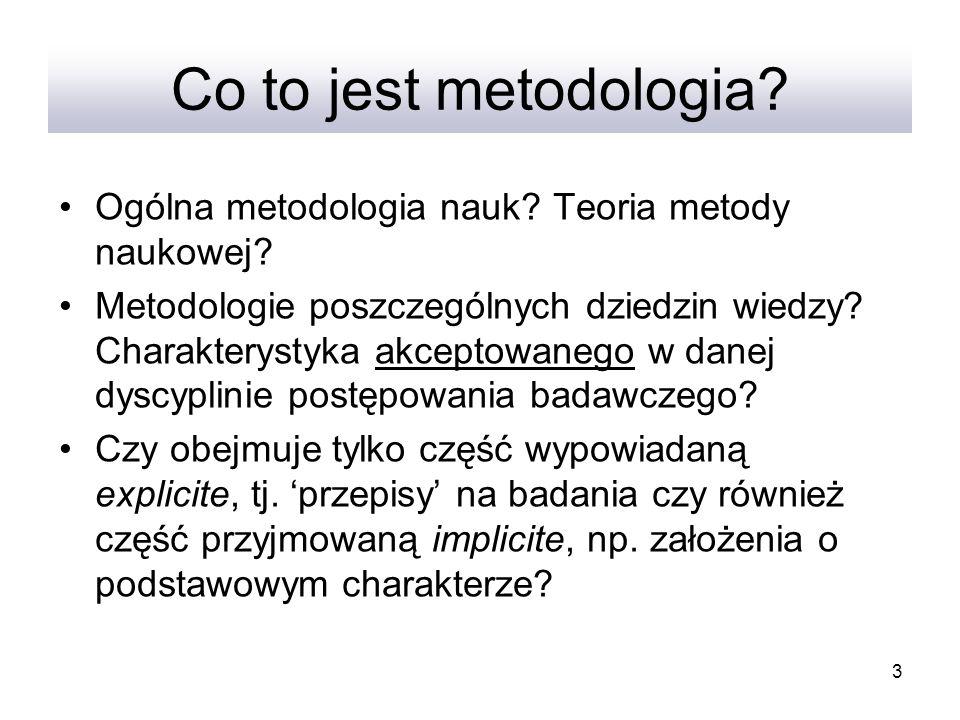 Co to jest metodologia Ogólna metodologia nauk Teoria metody naukowej