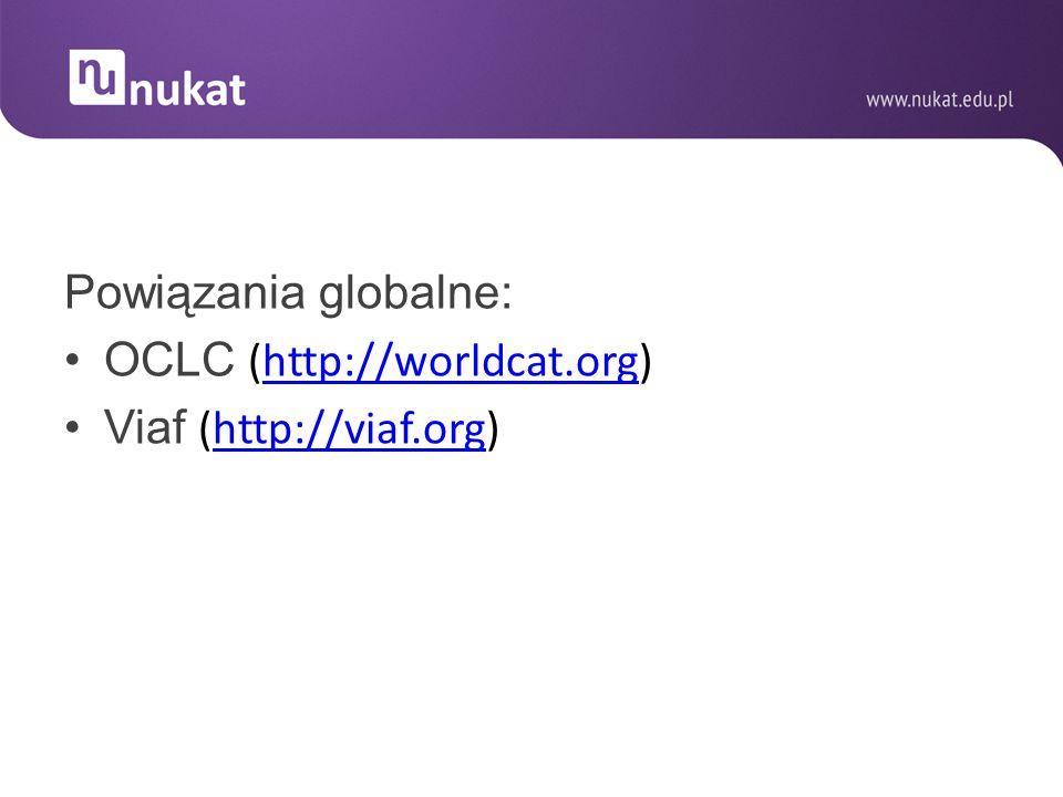 Powiązania globalne: OCLC (http://worldcat.org) Viaf (http://viaf.org)