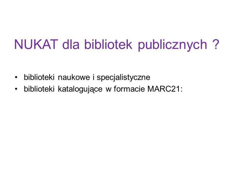 NUKAT dla bibliotek publicznych