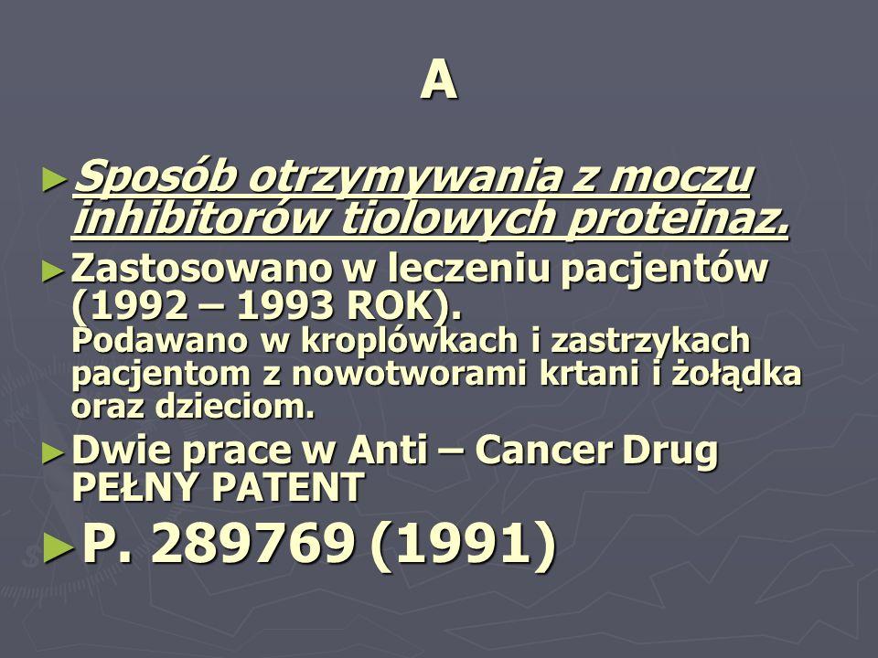 ASposób otrzymywania z moczu inhibitorów tiolowych proteinaz.