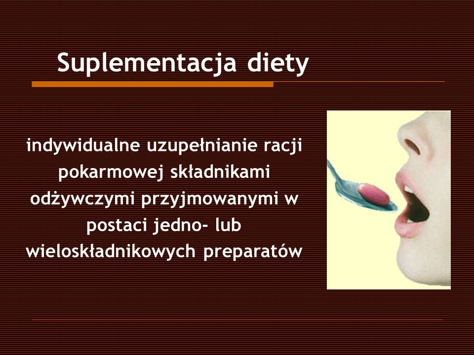 Suplementacja diety
