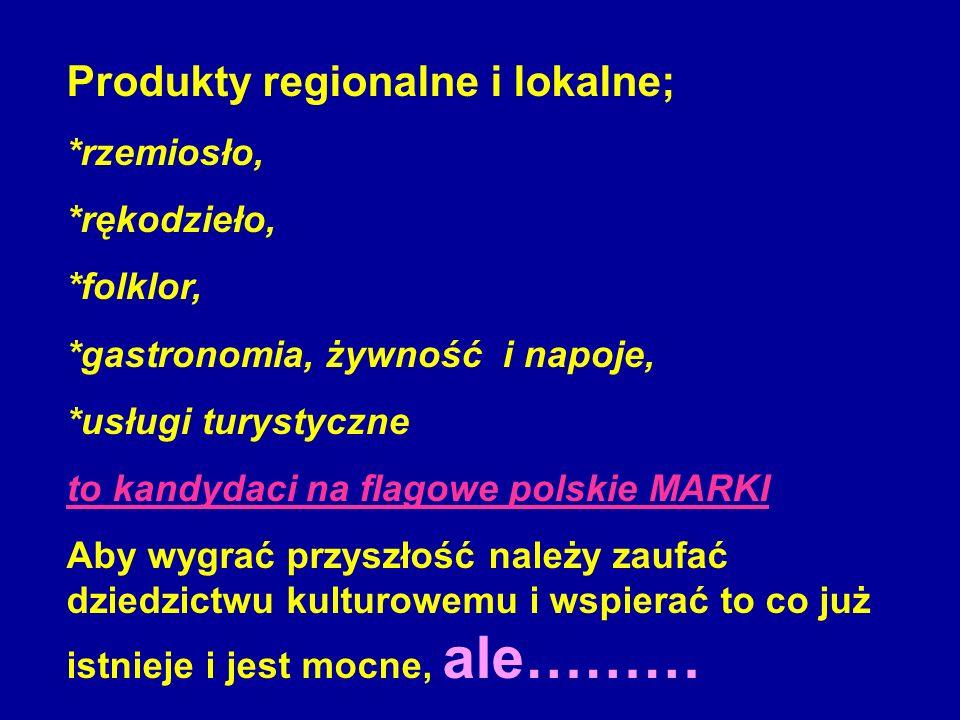 Produkty regionalne i lokalne;