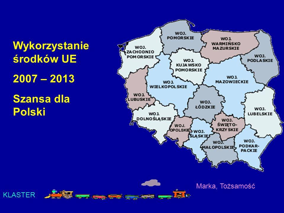 Wykorzystanie środków UE 2007 – 2013 Szansa dla Polski