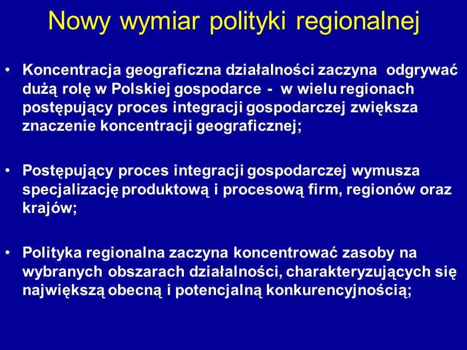 Nowy wymiar polityki regionalnej