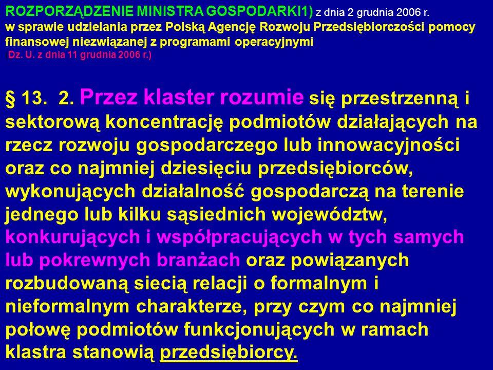 ROZPORZĄDZENIE MINISTRA GOSPODARKI1) z dnia 2 grudnia 2006 r.