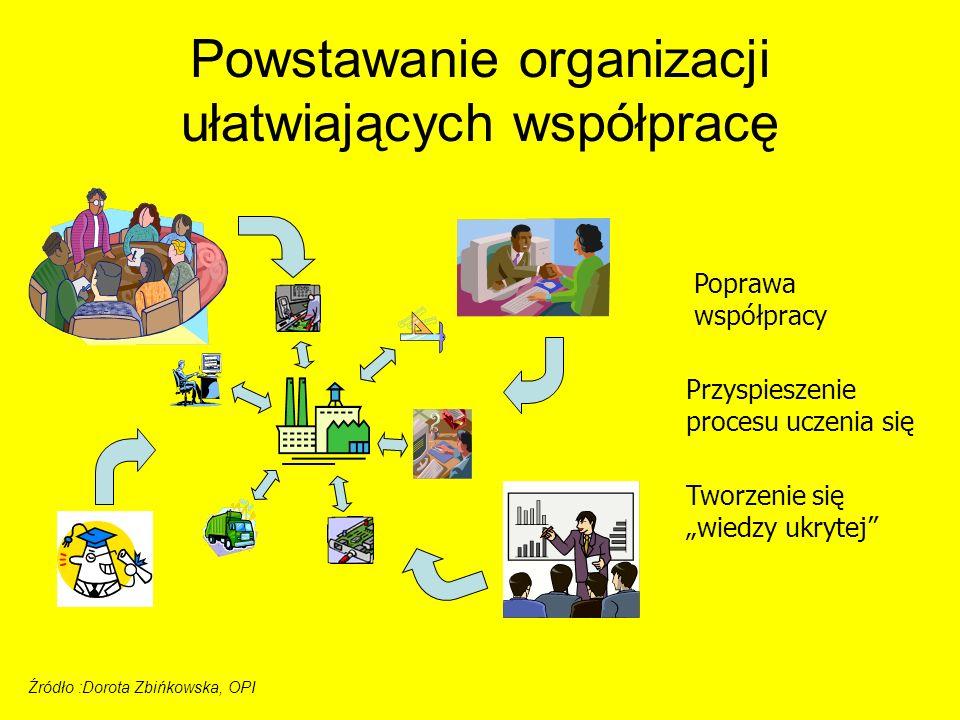 Powstawanie organizacji ułatwiających współpracę