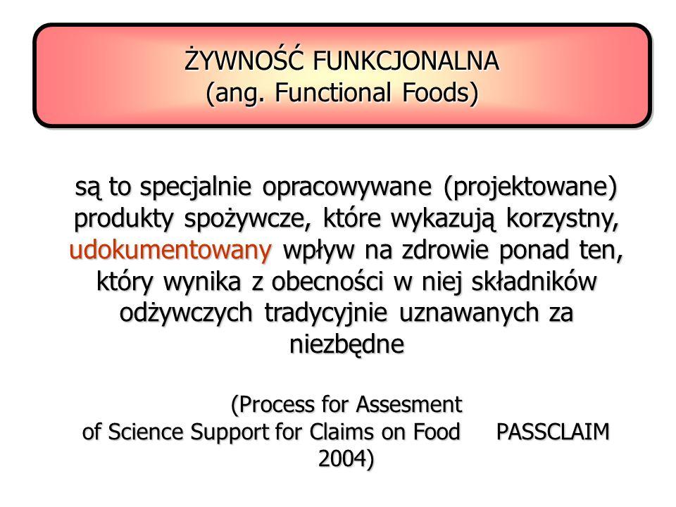 ŻYWNOŚĆ FUNKCJONALNA (ang. Functional Foods)