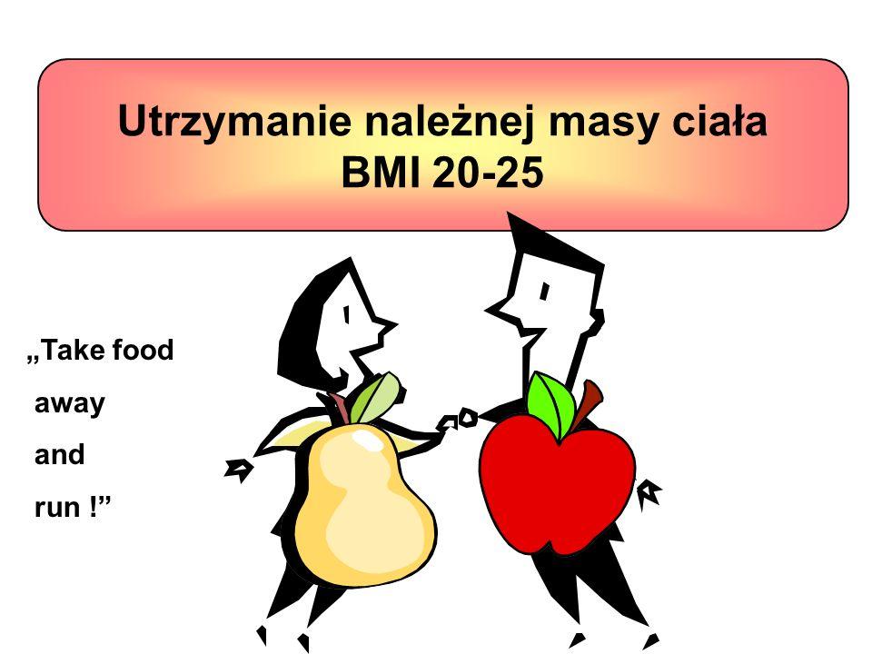 Utrzymanie należnej masy ciała BMI 20-25