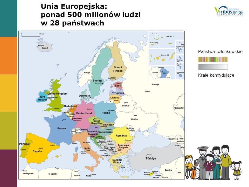 Unia Europejska: ponad 500 milionów ludzi w 28 państwach