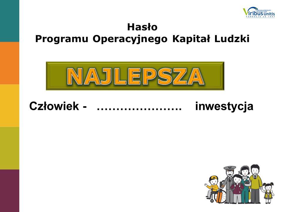 Hasło Programu Operacyjnego Kapitał Ludzki