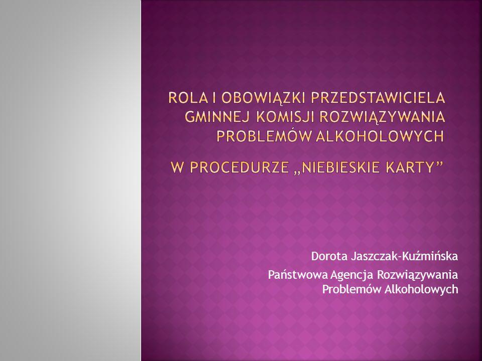 """Rola i obowiązki Przedstawiciela Gminnej komisji rozwiązywania problemów alkoholowych w procedurze """"Niebieskie Karty"""