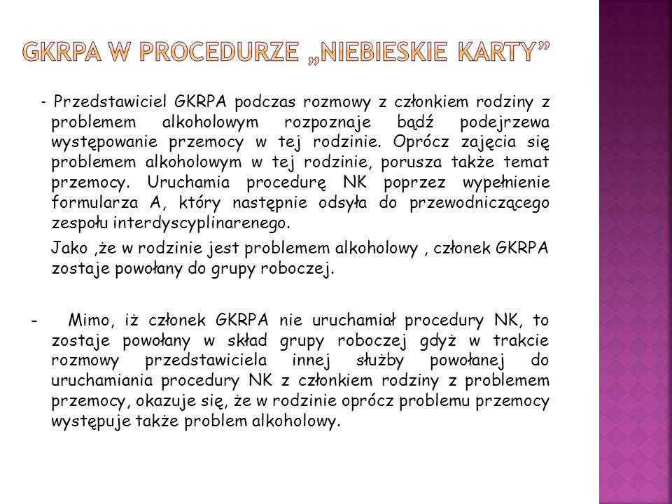 """GKRPA w procedurze """"niebieskie karty"""