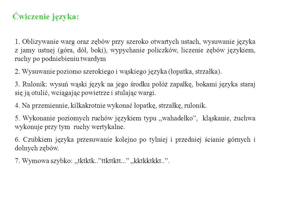 Ćwiczenie języka:
