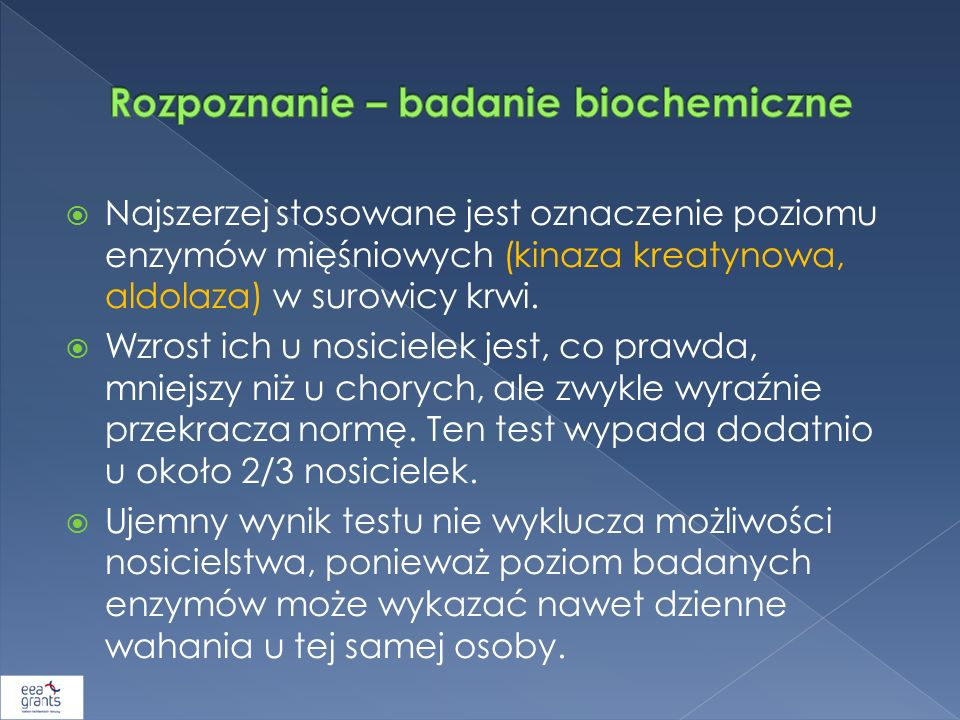 Rozpoznanie – badanie biochemiczne