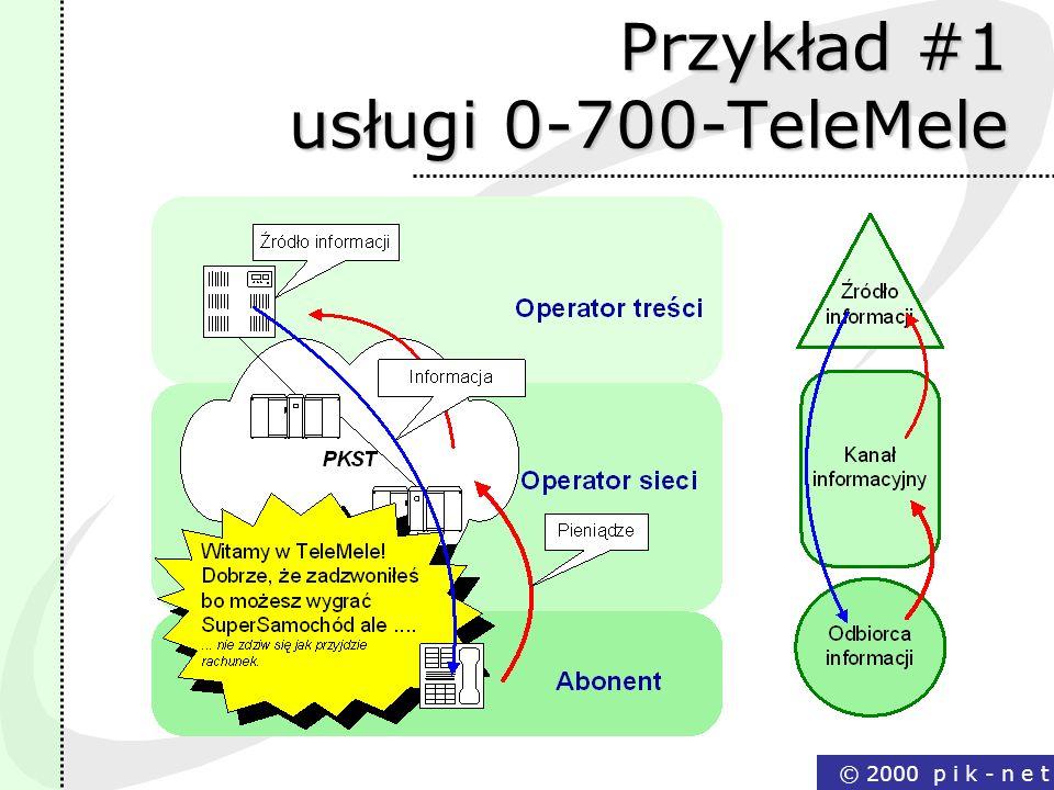 Przykład #1 usługi 0-700-TeleMele