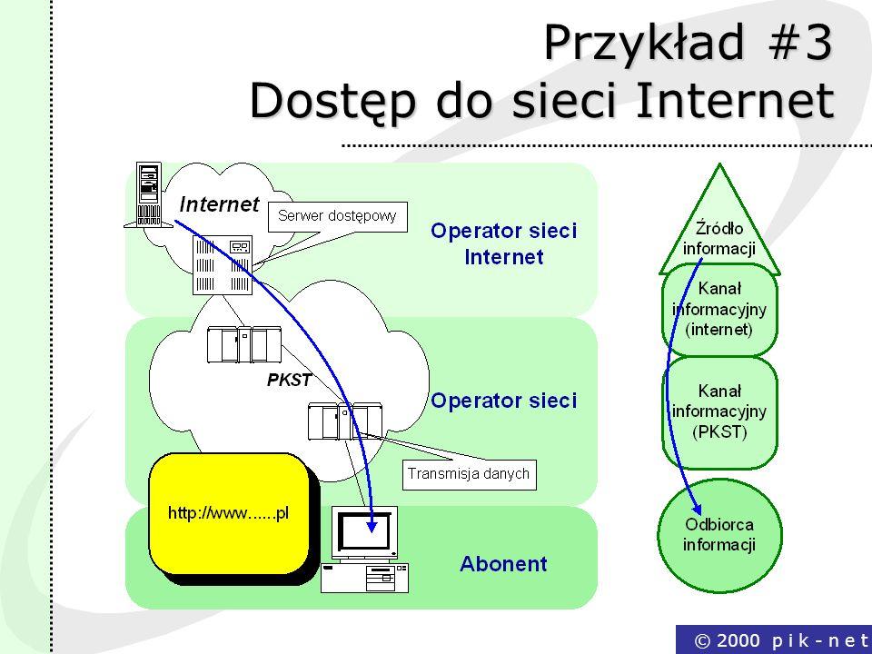 Przykład #3 Dostęp do sieci Internet