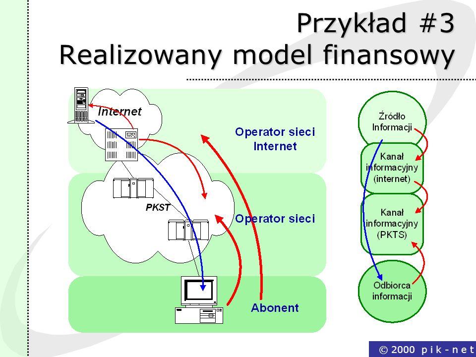 Przykład #3 Realizowany model finansowy