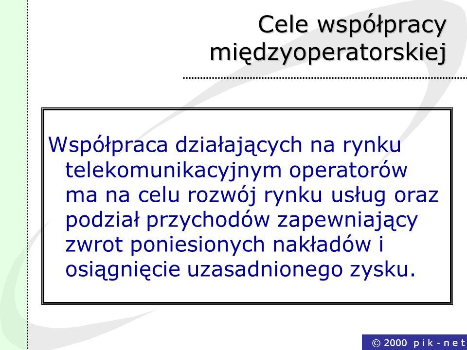 Cele współpracy międzyoperatorskiej