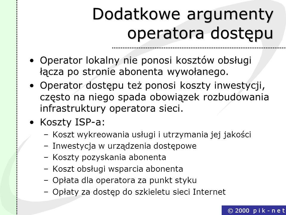 Dodatkowe argumenty operatora dostępu