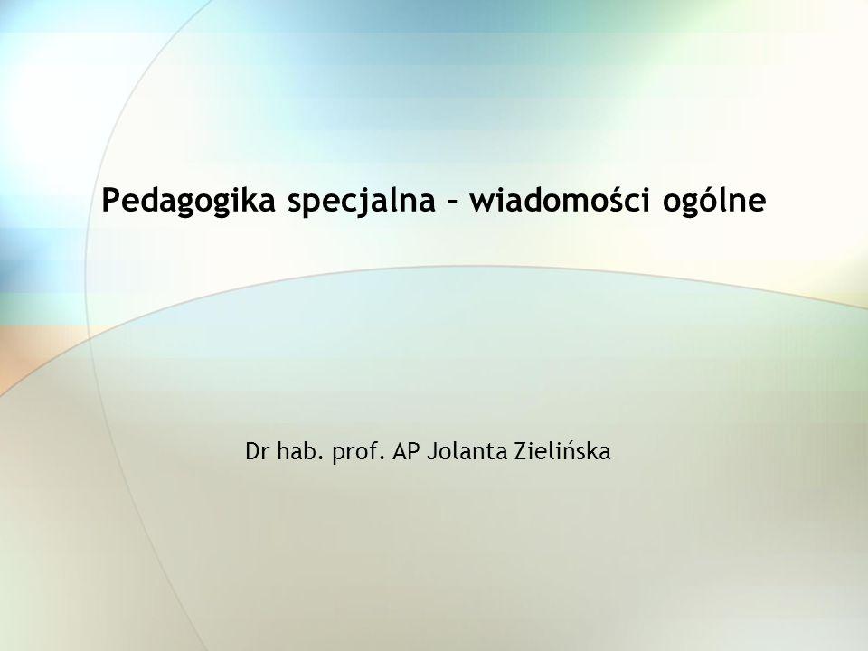 Pedagogika specjalna - wiadomości ogólne