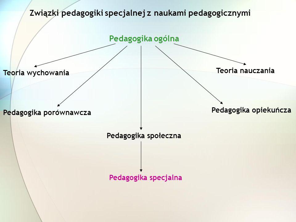 Związki pedagogiki specjalnej z naukami pedagogicznymi