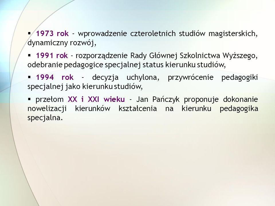 1973 rok - wprowadzenie czteroletnich studiów magisterskich, dynamiczny rozwój,