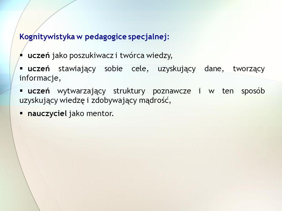 Kognitywistyka w pedagogice specjalnej: