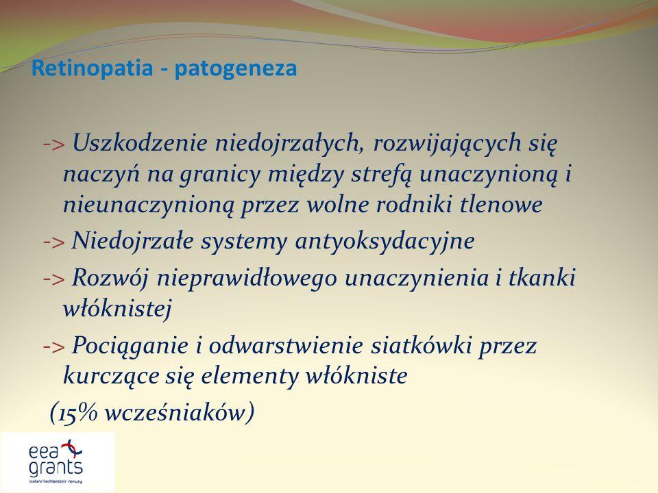Retinopatia - patogeneza