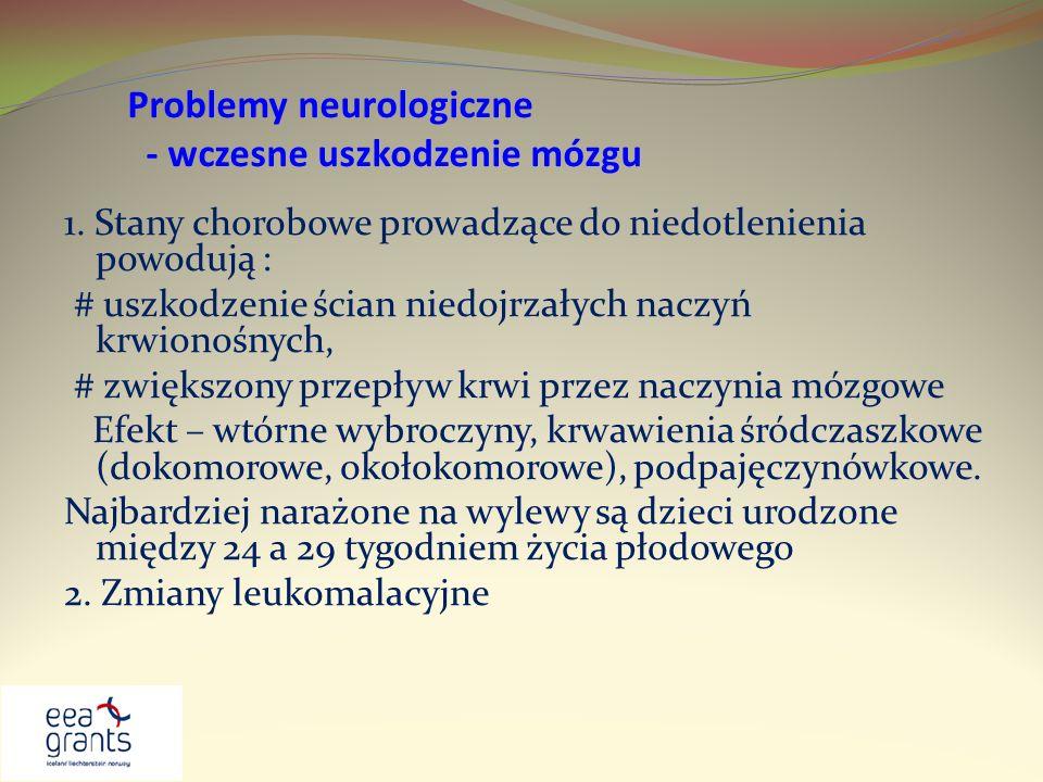 Problemy neurologiczne - wczesne uszkodzenie mózgu