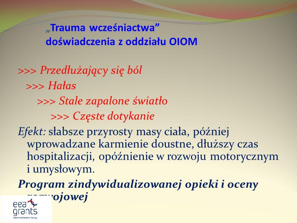 """""""Trauma wcześniactwa doświadczenia z oddziału OIOM"""