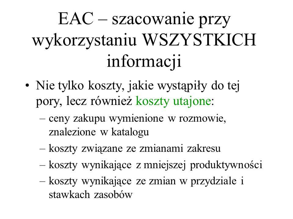 EAC – szacowanie przy wykorzystaniu WSZYSTKICH informacji