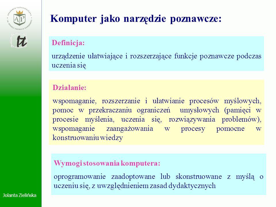 Komputer jako narzędzie poznawcze: