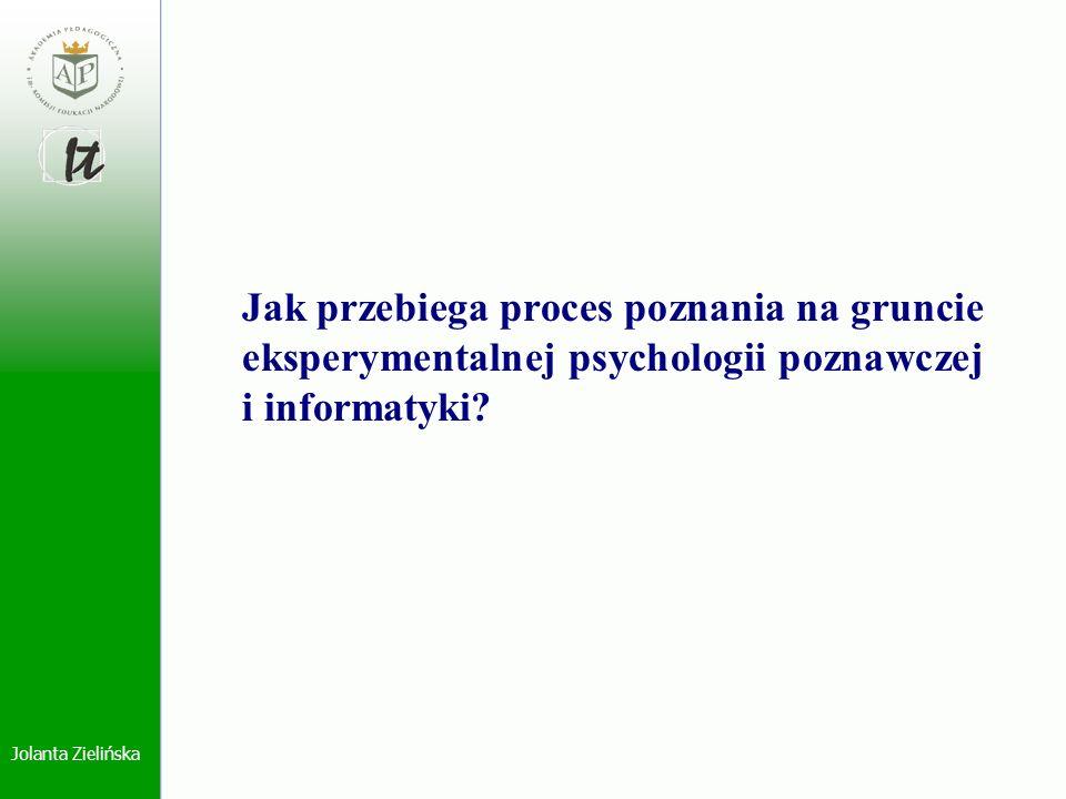 Jak przebiega proces poznania na gruncie eksperymentalnej psychologii poznawczej i informatyki