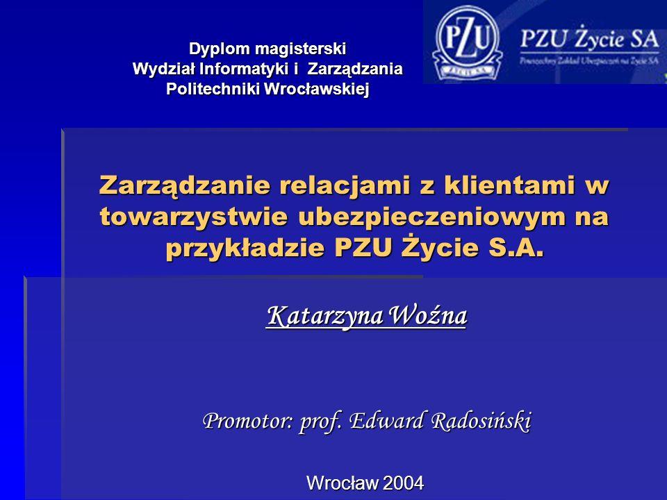 Katarzyna Woźna Promotor: prof. Edward Radosiński Wrocław 2004