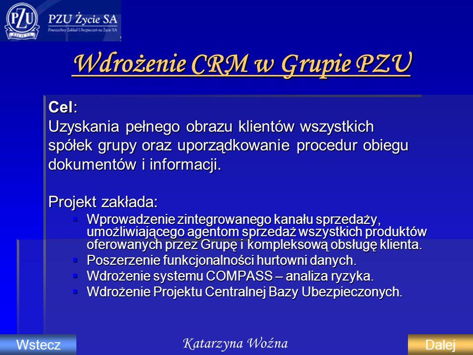 Wdrożenie CRM w Grupie PZU