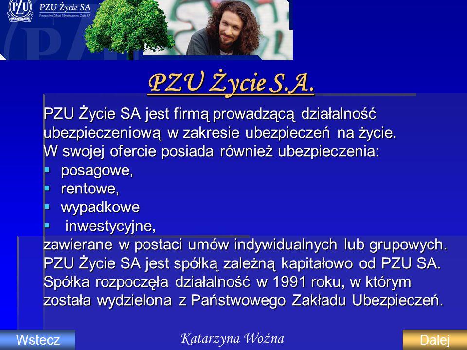 PZU Życie S.A. PZU Życie SA jest firmą prowadzącą działalność