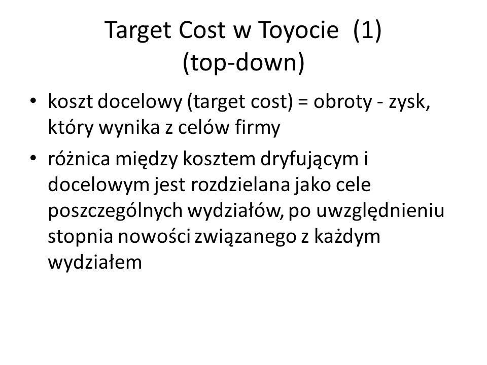 Target Cost w Toyocie (1) (top-down)