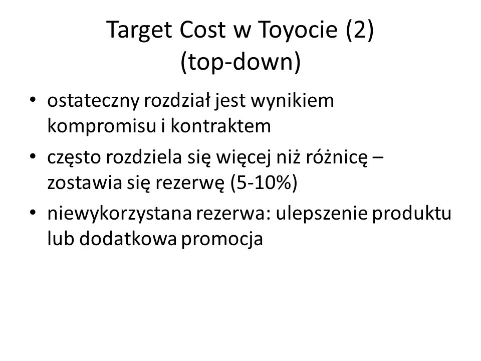 Target Cost w Toyocie (2) (top-down)