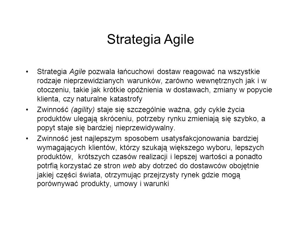 Strategia Agile
