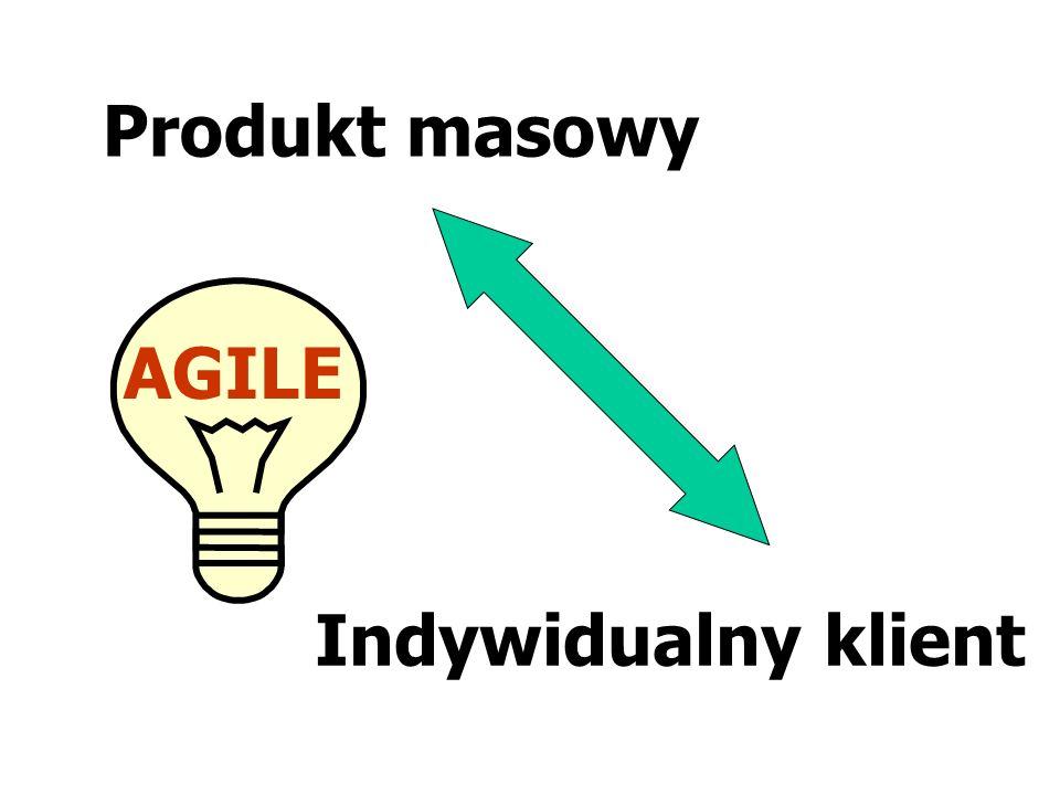 Produkt masowy AGILE Indywidualny klient